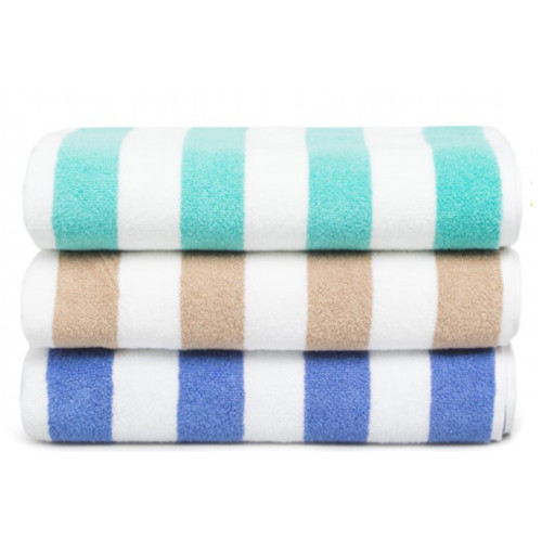 Commercial Stripe Pool Towel