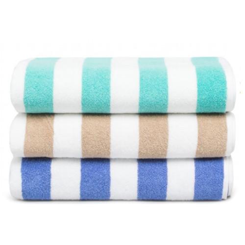 Commercial Stripe Pool Towel
