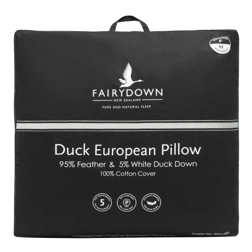 95/5 Duck Feather and Down European Pillow by Fairydown