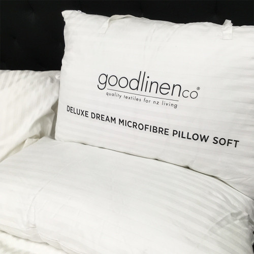 Deluxe Dream Microfibre Pillows (Soft, Medium or Firm) by Good Linen Co(R)