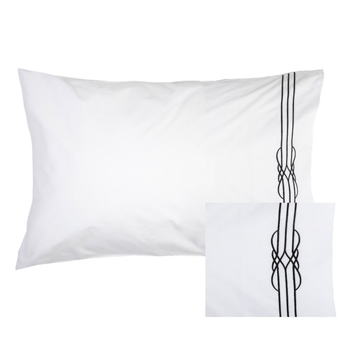 Deco Embroidered Pillowcase Pair by Linens & More
