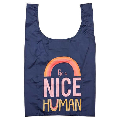 Eco Recycled PET Be A Nice Human Shopping Bag by Ladelle