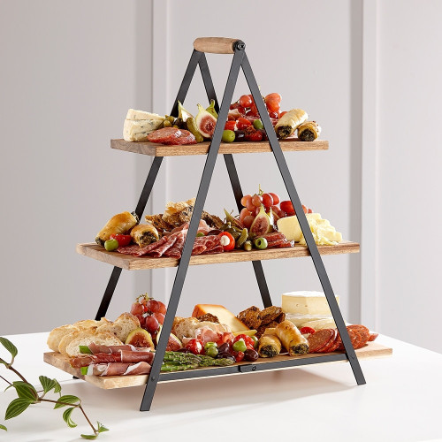 Serve & Share Acacia Wood Serving Tower by Ladelle