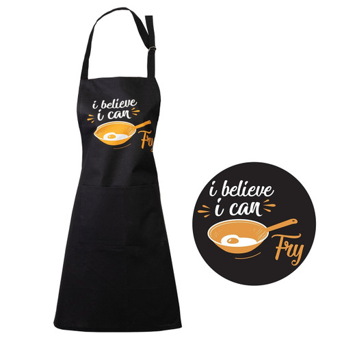 I Believe I Can Fry Apron by Linens & MoreI Believe I Can Fry Apron by Linens & More