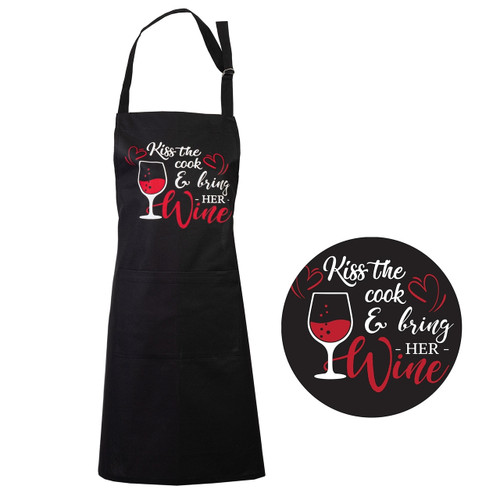 Kiss The Cook Apron by Linens & More