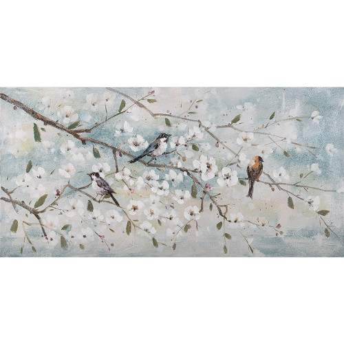 Blossoming Birds Canvas by Linens & More