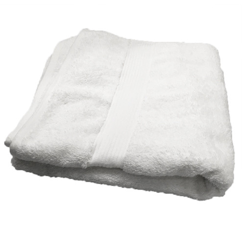White Jazz Bath Towel by Linens and More
