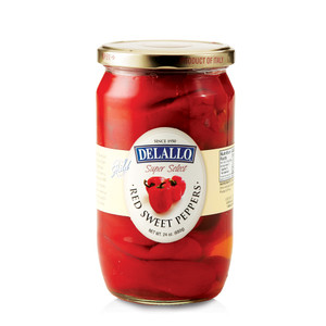 DeLallo Red Sweet Peppers 24 oz.