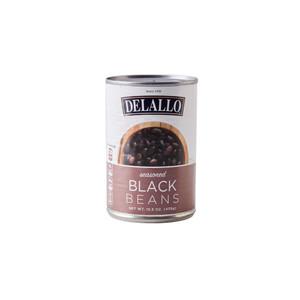 DeLallo Seasoned Black Beans 15.5 oz.