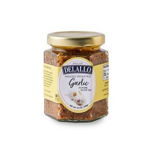 DeLallo Minced Roasted Garlic in Oil  5.5 oz.