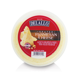 DeLallo Grated Parmesan Cheese Deli Cup 8 oz.