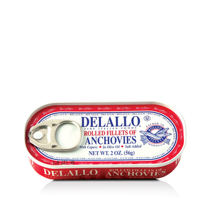 DeLallo Rolled Anchovies with Capers  2 oz.