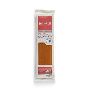 DeLallo Organic Whole-Wheat Capellini Pasta 1 lb.