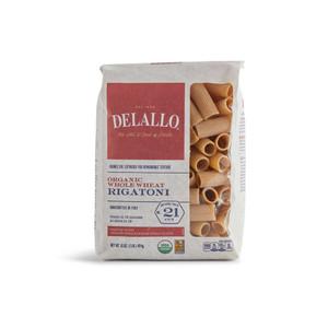 DeLallo Organic Whole-Wheat Rigatoni Pasta 1 lb.