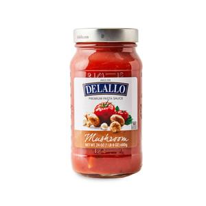 DeLallo Spaghetti Sauce with Mushrooms  24 oz.