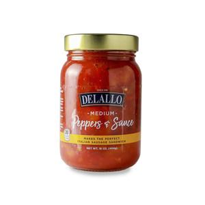 DeLallo Medium Hot Peppers & Sauce 16 oz.