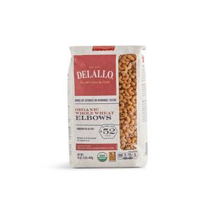 DeLallo Organic Whole-Wheat Elbows Pasta 1 lb.