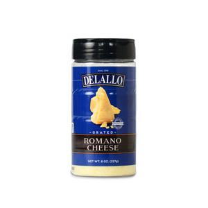 DeLallo Grated Romano Cheese 8 oz.