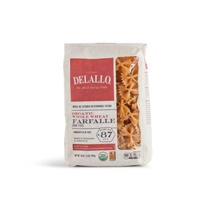 DeLallo Organic Whole-Wheat Farfalle Pasta 1 lb.