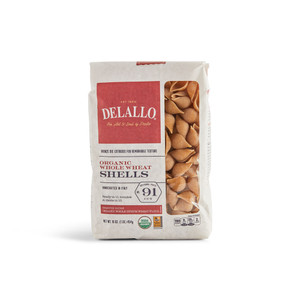 DeLallo Organic Whole-Wheat Shells Pasta 1 lb.