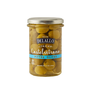 DeLallo Pitted Castelvetrano Olives - 5.3 oz. Jar