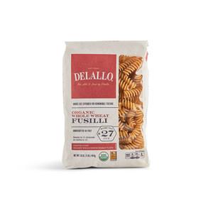 DeLallo Organic Whole-Wheat Fusilli Pasta 1 lb.