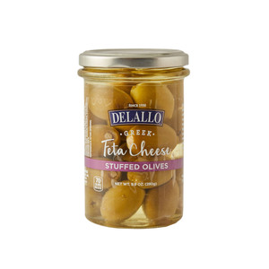 DeLallo Feta Stuffed Green Greek Olives in Jar