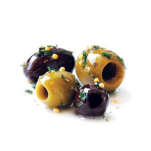 DeLallo Deli Fresh Pitted Seasoned Olives Jubilee 7 oz.