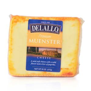 DeLallo Orange Rind Muenster Cheese Wedge 8 oz.