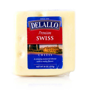DeLallo Domestic Swiss Cheese Wedge 8 oz.