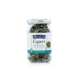 DeLallo Nonpareil Capers in Salt 4 oz.