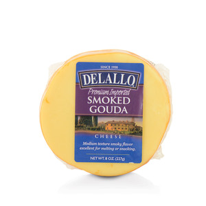DeLallo Smoked Gouda Cheese Wedge 8 oz.