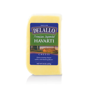 DeLallo Havarti Cheese Wedge 8 oz.