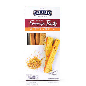 DeLallo Sesame Focaccia Toasts 3.5 oz.