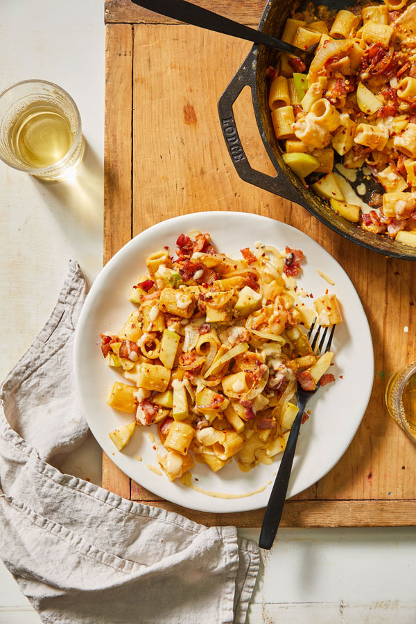 Fall Carbonara with Bacon & Apples