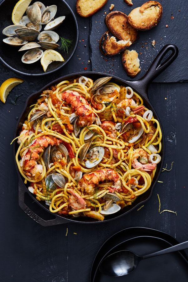 Buactini Seafood Pasta