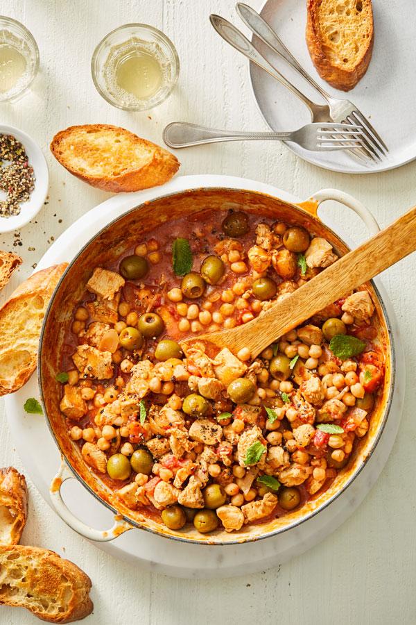 Mediterranean Chicken and Chickpea Stew