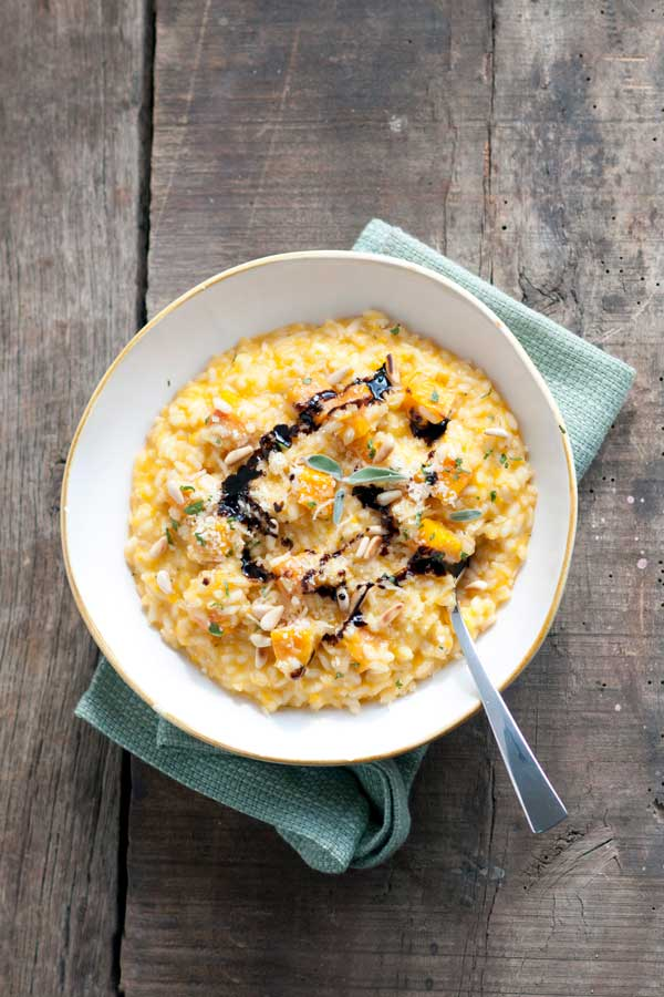 Butternut Squash Risotto with Pine Nuts & Balsamic