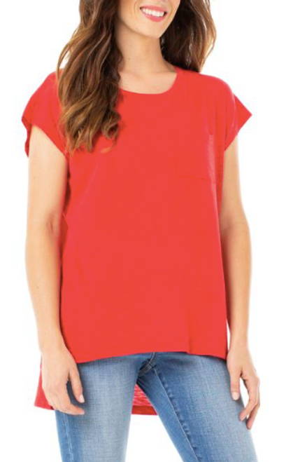LIVERPOOL SCOOP NECK RED TEE LM8122K15