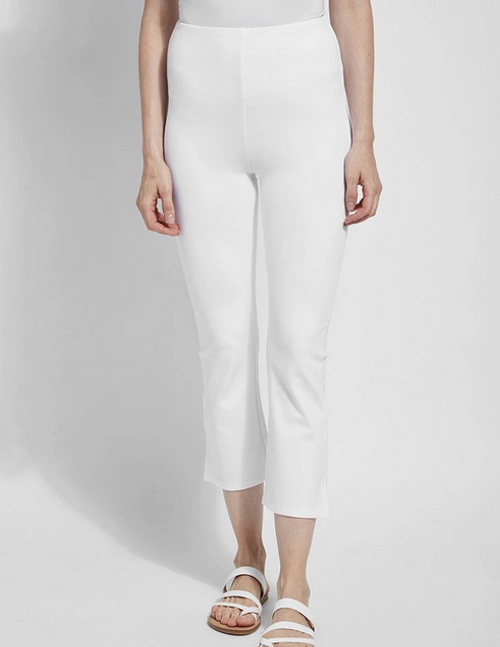 LYSSE CROPPED KICK FLARE WHITE 96