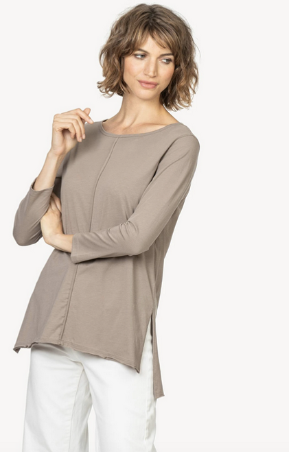 LILLA P 3/4 SLEEVE BOATNECK DIFTWOOD 1027
