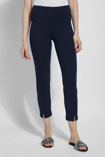 LYSSE WISTERIA ANKLE PANT TRUE NAVY 2402