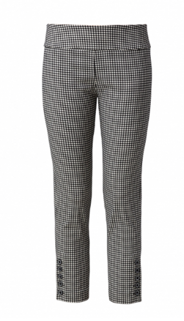ELLIOTT LAUREN BLACK WHITE PANTS 17526