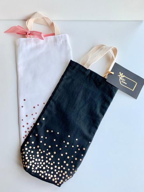 Confetti Cotton Canvas Wine/Beverage Gift Bag