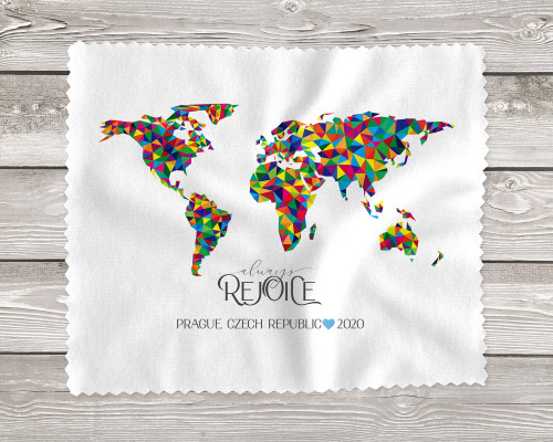 Always Rejoice Handmade Assorted 2020 Special Convention Gift Lens Cloths with Map