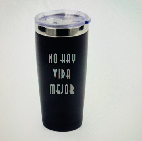 22 0z. Black Matte Stainless Steel Travel Mug