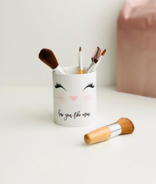 Kitty Lashes Ceramic Botanical Pen/Brush Holder