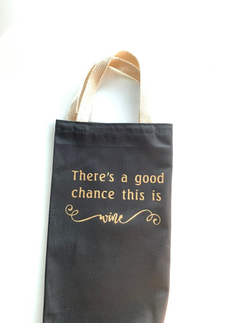 Decorated wine gift bag