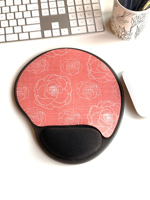 Coral Floral Mouse pad
