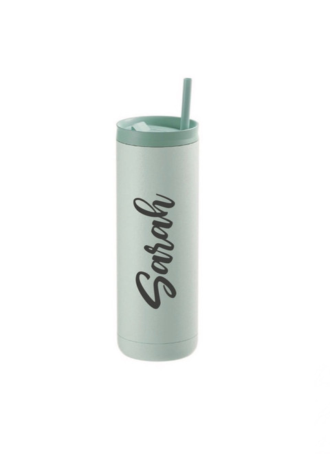 20oz Matte Sea Glass Stainless Steel Skinny Tumbler